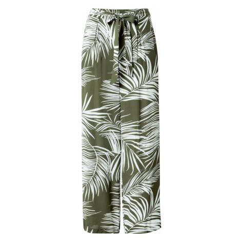ONLY Spodnie 'Augustina' oliwkowy / biały
