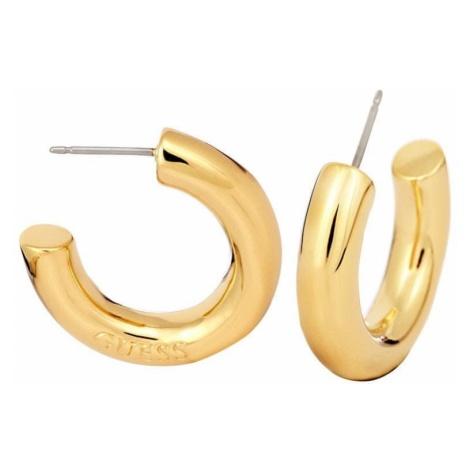 Guess Stylowe złote kolczyki UBE84050