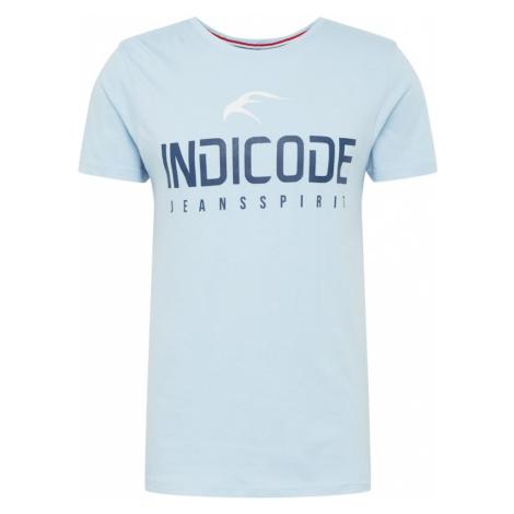 INDICODE JEANS Koszulka jasnoniebieski / granatowy / biały