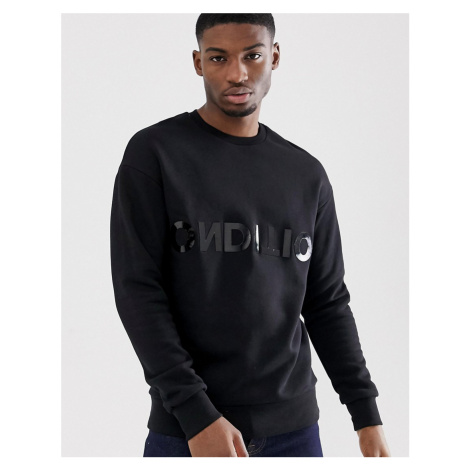 Jack & Jones Core sweat with condition text print in black