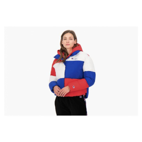 CHAMPION COLOUR BLOCK CROPPED PUFFED JACKET > 112347-BS008