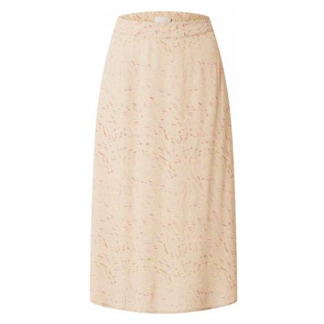 PIECES Spódnica 'Marguerite' brązowy / różowy / beżowy