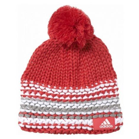 adidas YOUTH GIRLS CHUNKY BEANIE czerwony 54 - Czapka zimowa dziewczęca