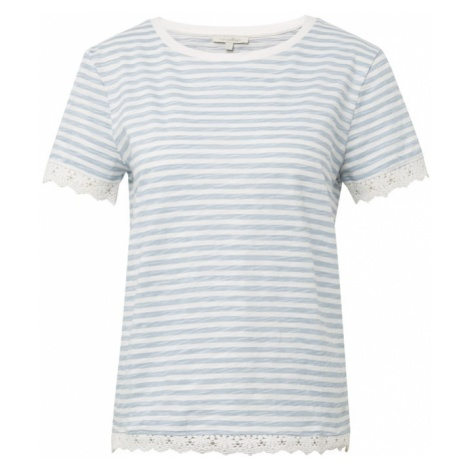 TOM TAILOR DENIM Koszulka podpalany niebieski / biały