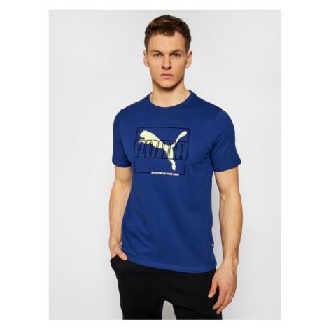 Puma T-Shirt Flock 587770 Granatowy Regular Fit