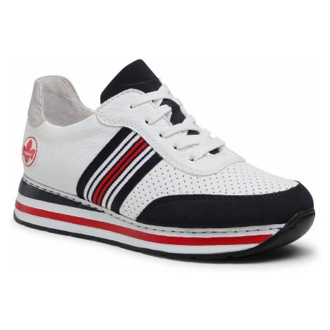 Sneakersy RIEKER - L2327-15 Weiss Kombi