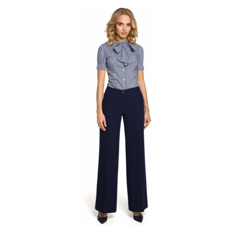 Made Of Emotion Woman's Pants M323 Navy Blue