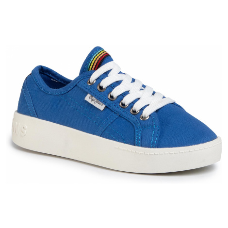 Sneakersy PEPE JEANS - Brixton Canvas PGS30448 Lagoon 539