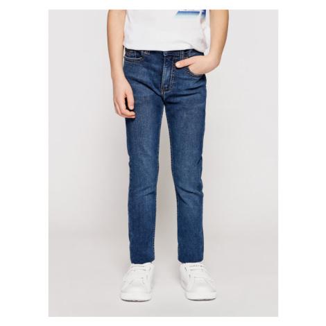 Calvin Klein Jeans Jeansy Essential IB0IB00767 Granatowy Skinny Fit
