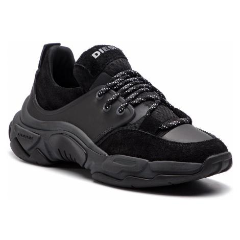 Sneakersy DIESEL - S-Kipper Low Lace Y01868 P2087 H7044 Black/Asphalt