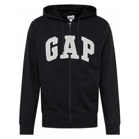 GAP Bluza rozpinana 'XLS FT ARCH FZ HD' czarny / biały