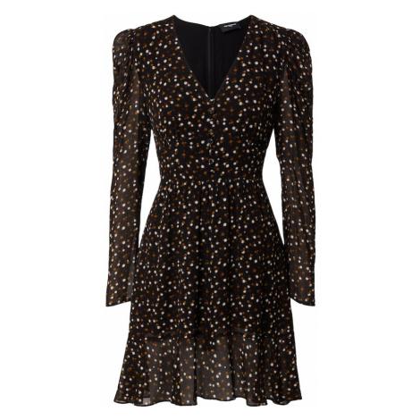 The Kooples Sukienka brązowy / czarny / biały