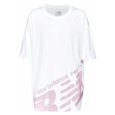 New Balance Koszulka 'NB ATHLETICS BOYFRIEND T' różowy / biały