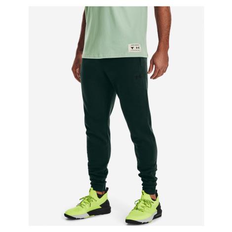 Under Armour Project Rock Charged Cotton® Fleece Spodnie dresowe Zielony
