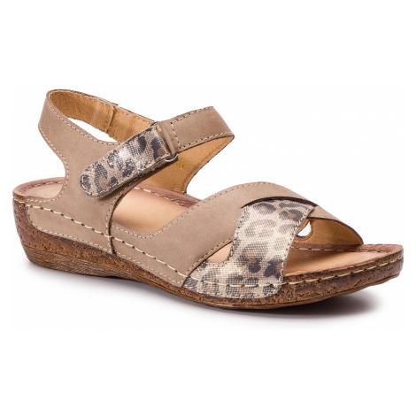 Sandały WALDI - 0632 Capucino/Panterka