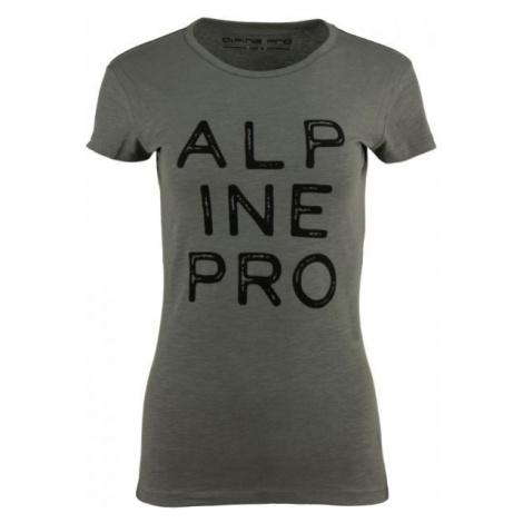 ALPINE PRO JAVONA ciemnozielony XL - Koszulka damska