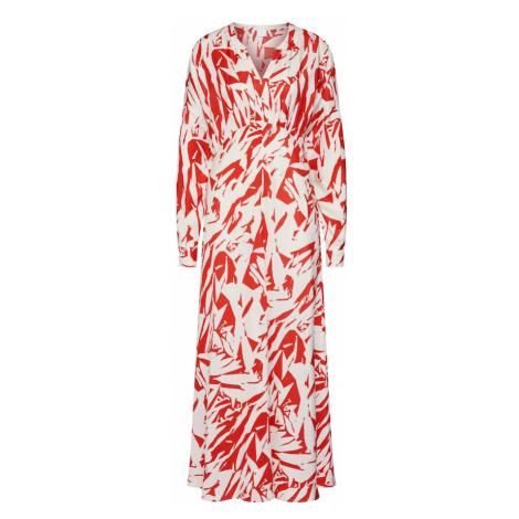 BOSS Sukienka koszulowa 'Cibeck' czerwony / biały Hugo Boss