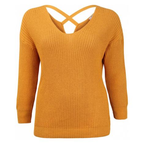 ABOUT YOU Curvy Sweter 'Tabea' żółty / musztardowy