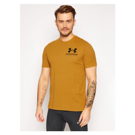 Under Armour T-Shirt Ua Performance Big Logo 1357174 Żółty Loose Fit