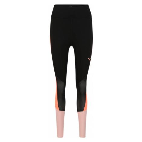 PUMA Spodnie sportowe beżowy / czarny / łososiowy