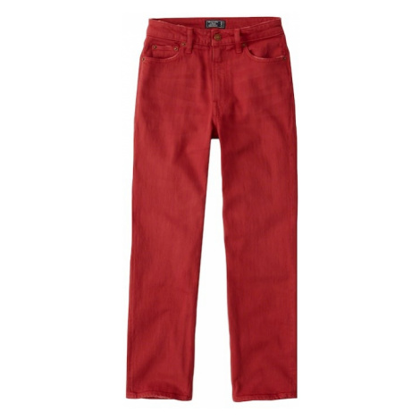 Abercrombie & Fitch Jeansy 'RED SIMONE ANKLE STRAIGHT' czerwony