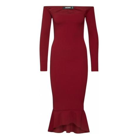 Missguided Sukienka czerwone wino / czerwony