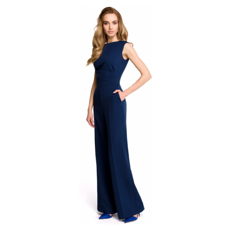 Stylove Woman's Jumpsuit S115 Navy Blue