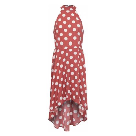 Mela London Sukienka biały / różowy pudrowy