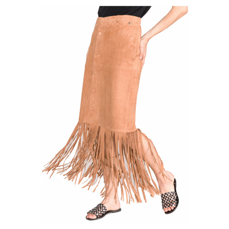 TWINSET Spódnica Brązowy Pomarańczowy