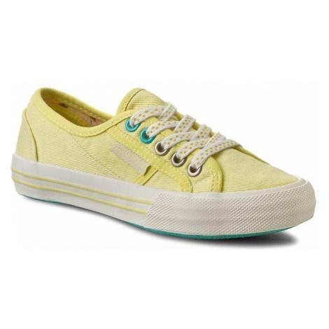 Tenisówki PEPE JEANS - Baker Plain PGS30179 Lemon 031