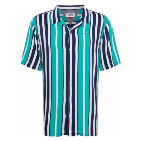 Tommy Jeans Koszula turkusowy / ciemny niebieski / biały Tommy Hilfiger