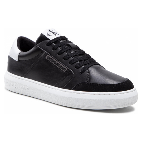 Sneakersy CALVIN KLEIN JEANS - Cupsole Sneaker Laceup Pu-Ny YM0YM00033 Black BDS