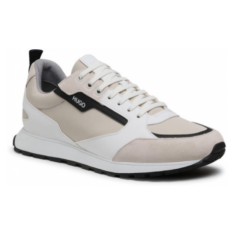 Hugo Sneakersy Icelin 50451740 10234982 01 Beżowy Hugo Boss