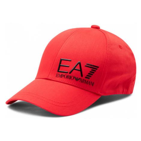 EA7 Emporio Armani Czapka z daszkiem 275936 1P103 31474 Czerwony
