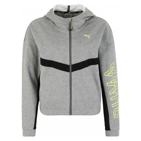 PUMA Bluza rozpinana sportowa 'HIT Feel It Sweat Jacket' jasnoszary