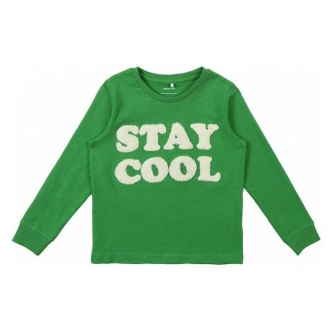 NAME IT Koszulka 'Bafun' zielony / biały