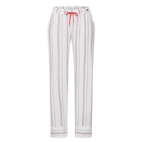 ESPRIT Spodnie od piżamy 'Adah' biały / pastelowa czerwień / czarny