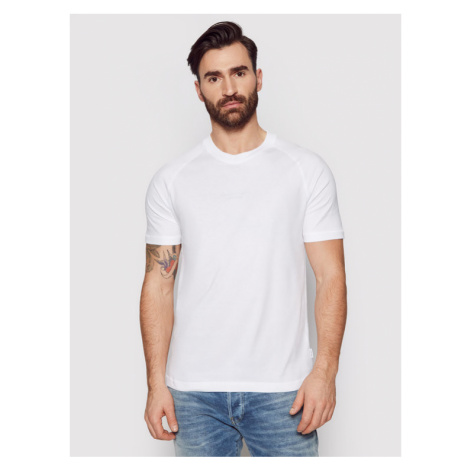 Calvin Klein T-Shirt Center Logo Stretch K10K106498 Biały Regular Fit
