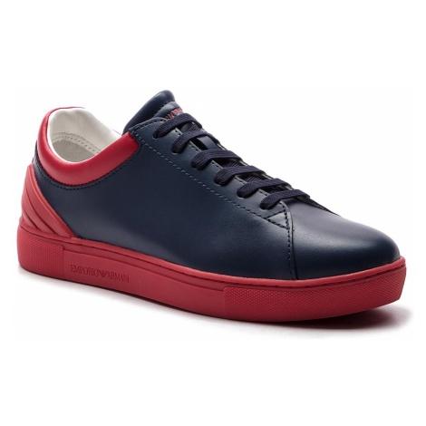Sneakersy EMPORIO ARMANI - XYX001 XOI12 D127 Navy/Red