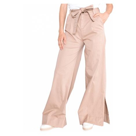 TWINSET Spodnie Brązowy Beżowy