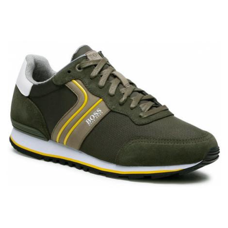 Boss Sneakersy Parkour 50433661 10214574 01 Zielony Hugo Boss