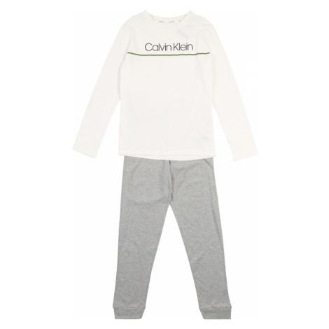 Calvin Klein Underwear Piżama nakrapiany szary / biały