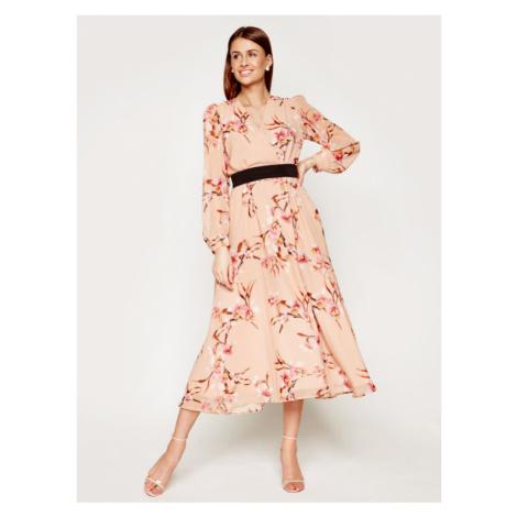 Marella Sukienka wieczorowa Cutter 32214001 Beżowy Regular Fit