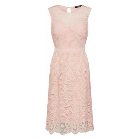 Boohoo Sukienka koktajlowa 'LACE SKATER DRESS' różowy pudrowy