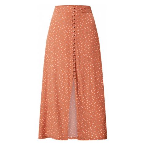 Cotton On Spódnica 'Summer Button' pomarańczowy / biały