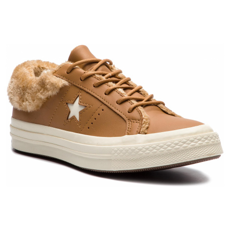 Tenisówki CONVERSE - One Star Ox 162603C Burnt Caramel/Burnt Caramel
