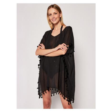 Seafolly Sukienka plażowa Amnesia 52162 Czarny Regular Fit