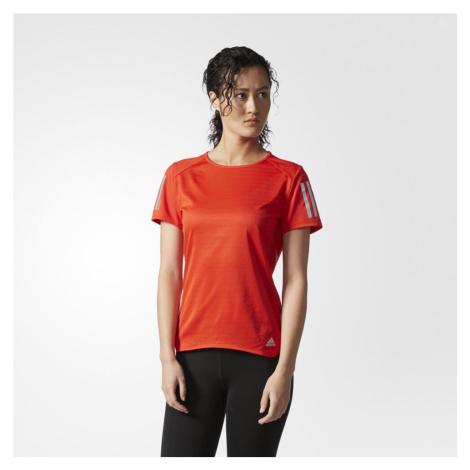 Adidas Response Core Red Short Sleeve T-Shirt Damska Czerwona (BP7451)