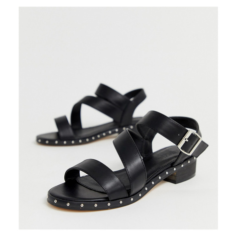 Truffle Collection wide fit asymmetric mid heel sandals