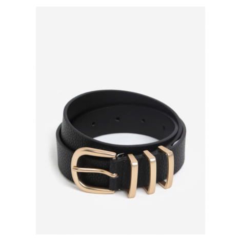 Black belt with buckle in gold Pieces Lea